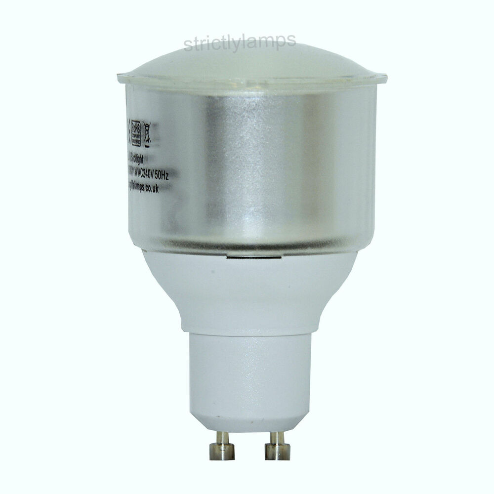 11w Gu10 Energy Saving Light Bulb Cfl In Cool White Ebay