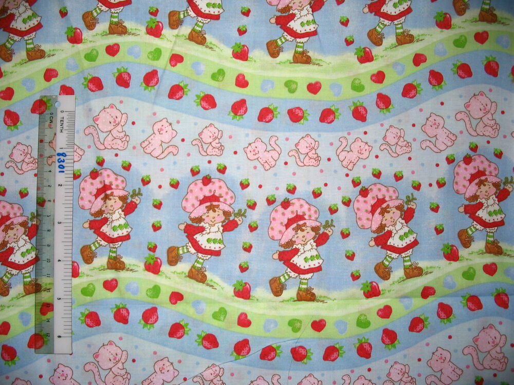 Strawberry shortcake girl baby design cotton quilting for Cotton quilting fabric