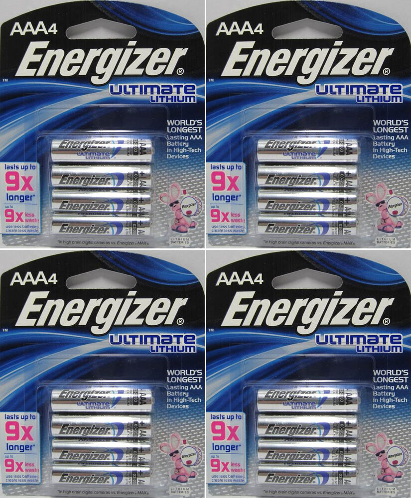 16 x energizer ultimate lithium l92 aaa batteries ebay. Black Bedroom Furniture Sets. Home Design Ideas