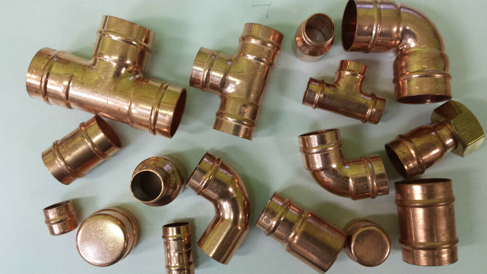 Range of solder ring yorkshire copper fittings elbow tee