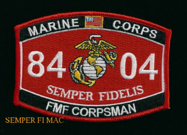 Mos Usmc Corpsman Patch Us Marines Pin Up Coin Wow Ebay