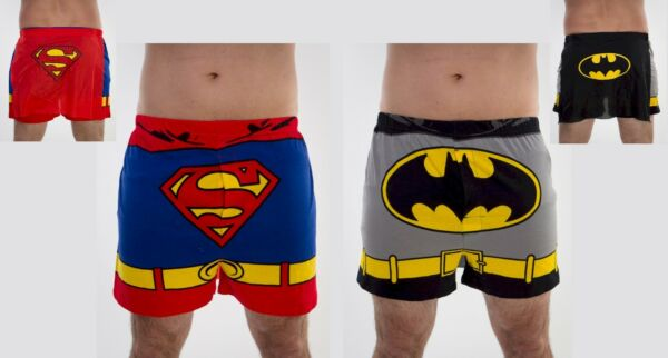 NEW Superman or Batman Men's Boxers Underwear with Detachable Cape