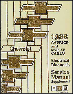 1988 Chevy    Caprice       Wiring       Diagram    Manual Classic Electrical Diagnosis Brougham   eBay