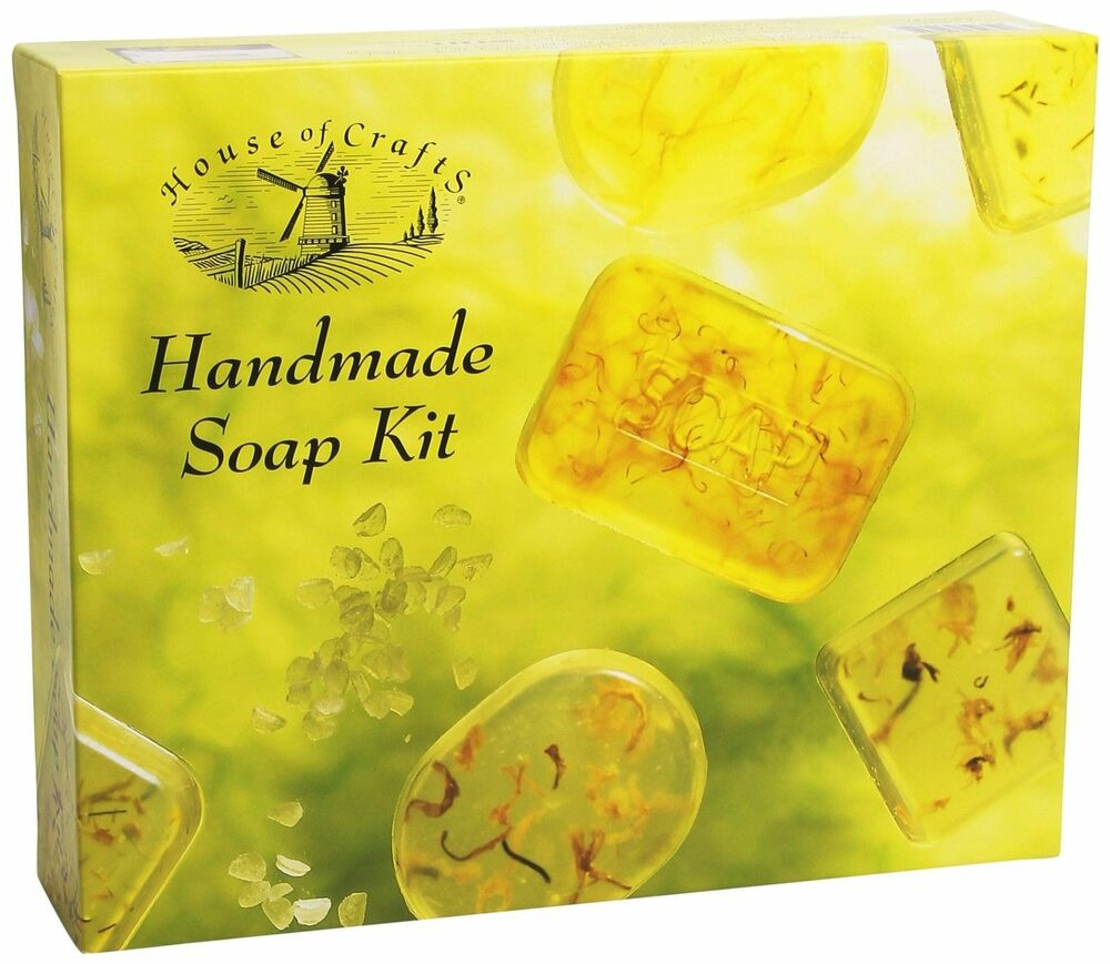 10 Scented Home Gift Ideas All Priced 10 And Under: NATURAL HANDMADE SOAP MAKING CRAFT KIT HOUSE OF CRAFTS