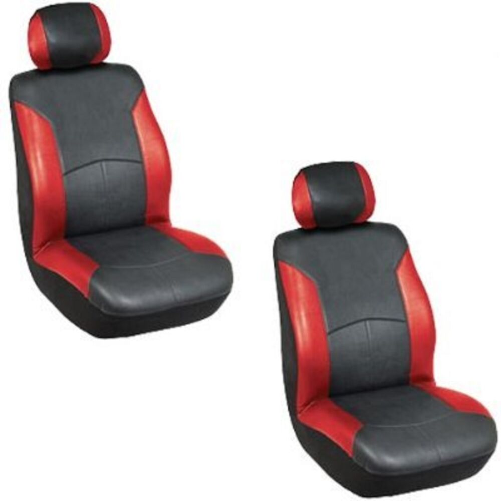 1 Universal Airbag Safe Red Bucket Seat Covers Car Truck
