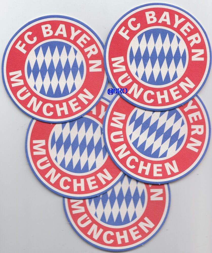 5 bierdeckel fc bayern m nchen signet vereinswappen. Black Bedroom Furniture Sets. Home Design Ideas