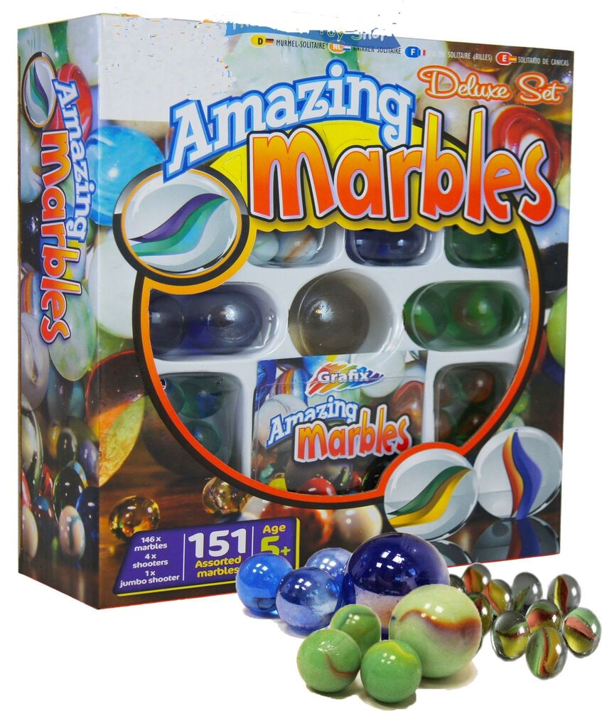 Toys For Marbles : Amazing traditional glass marbles toy set