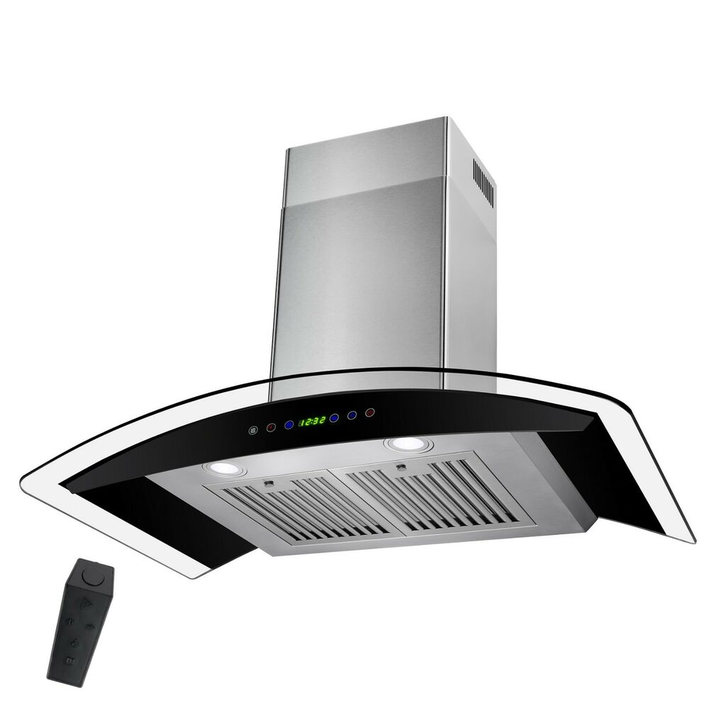 Wall Exhaust Hood ~ Quot stainless steel wall mount range hood with gas sensor