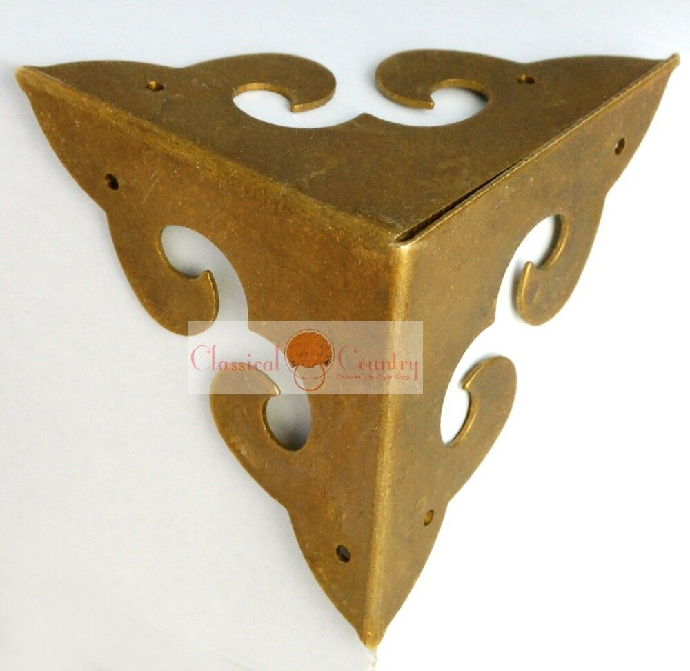 4 Corners Chinese Furniture Hardware Brass For Cabinet Trunk Jewelry Box Chest Ebay