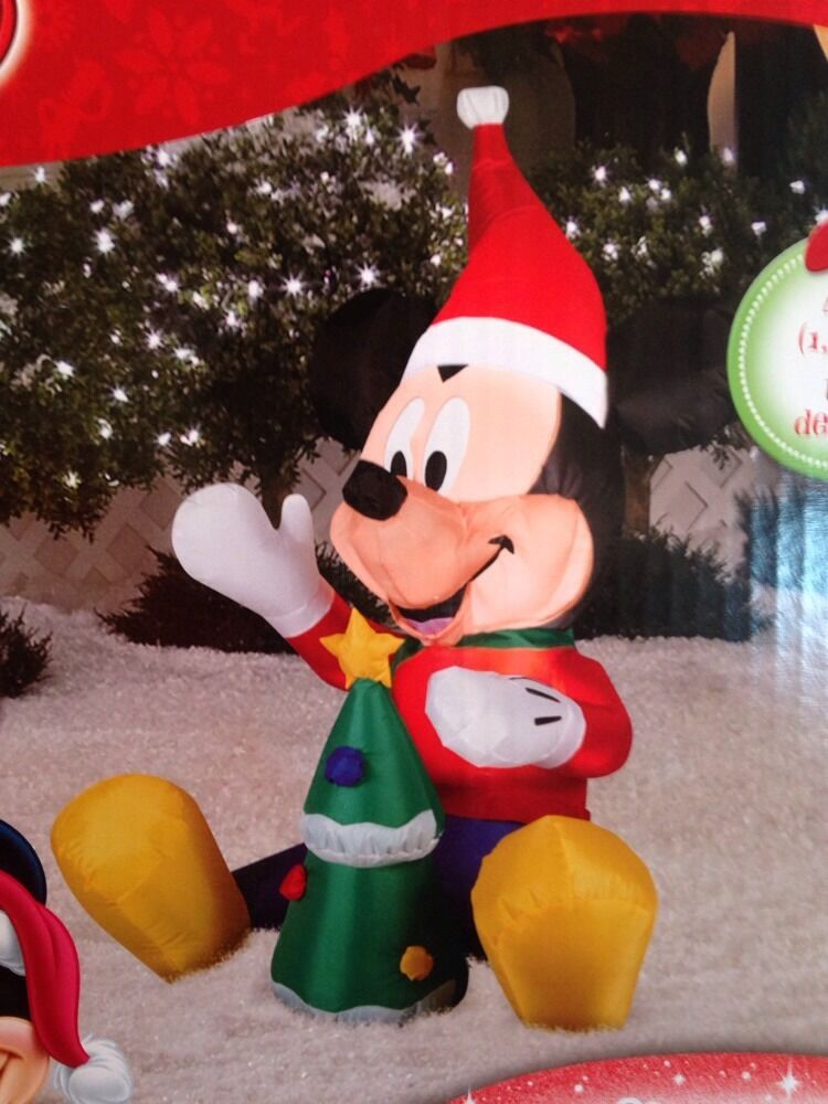 Disney Baby Mickey Mouse Wth Christmas Tree 42 Inches Tall
