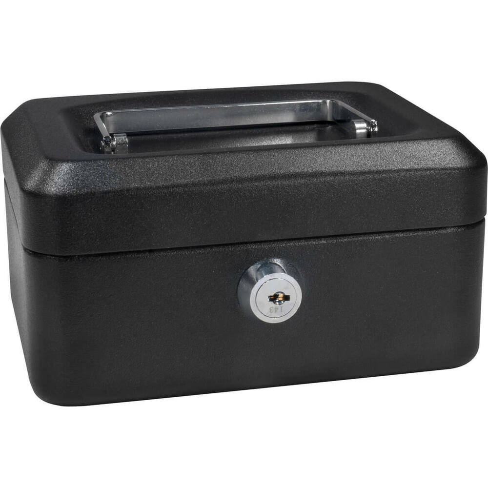 barska 6 inch small steel cash box safe w removable tray key lock cb11828 ebay. Black Bedroom Furniture Sets. Home Design Ideas
