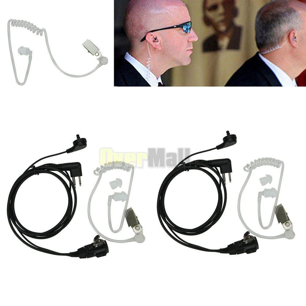 Police Radio Mic >> 2Pcs Headset Mic Covert Acoustic Tube Earpiece for ...