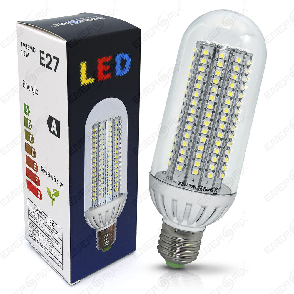 e27 led lampen 138 198 smd led strahler lampe gl hbirne leuchtmittel 12w ebay. Black Bedroom Furniture Sets. Home Design Ideas