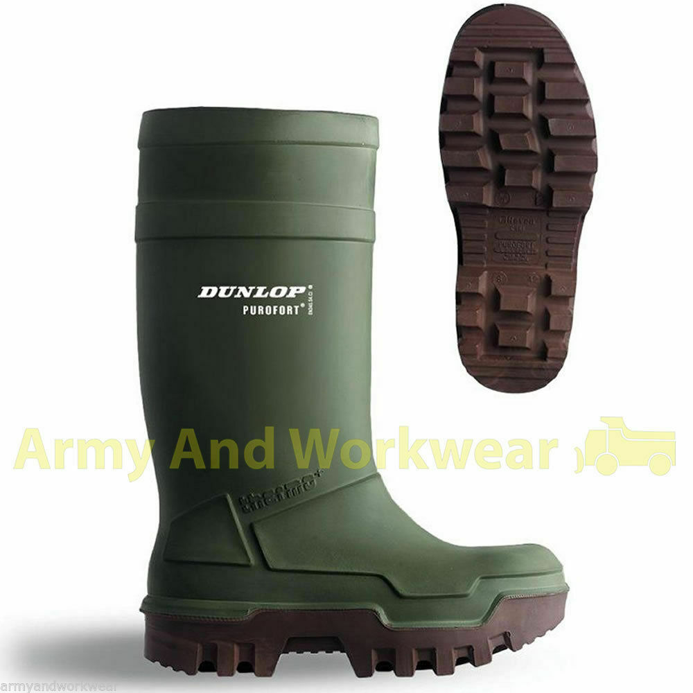 Dunlop Purofort Thermo Full Safety Wellington Work Boots