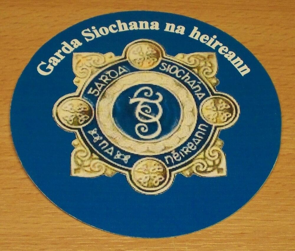 Irish Police: Garda Siochana/Irish Police Vinyl Sticker.