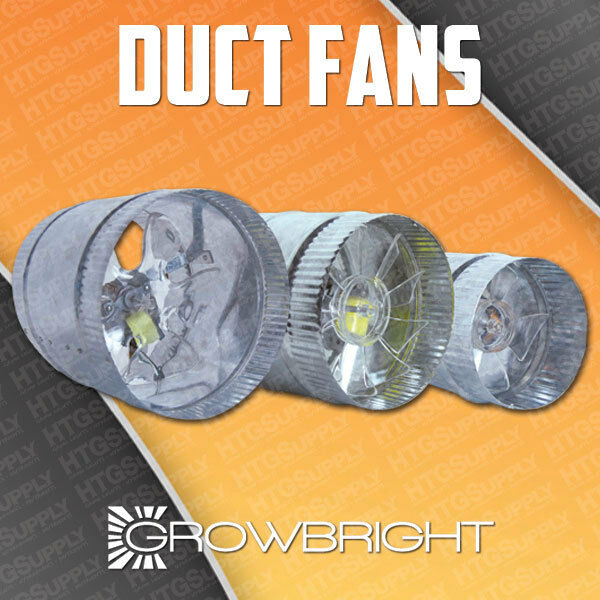 4 Quot 6 Quot 8 Quot Inch Inline Duct Fan Exhaust Booster Blower Light