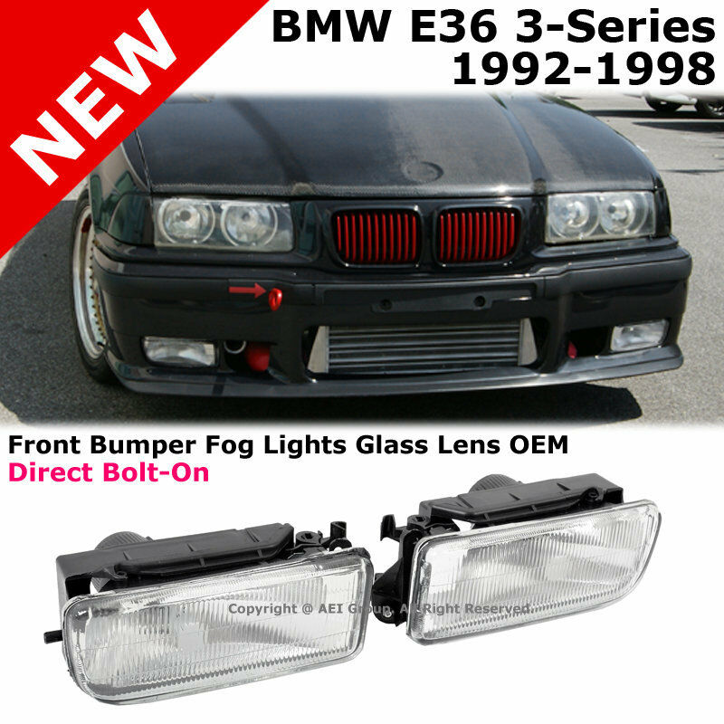BMW E36 3-Series 92-98 Replacement Front Bumper Fluted