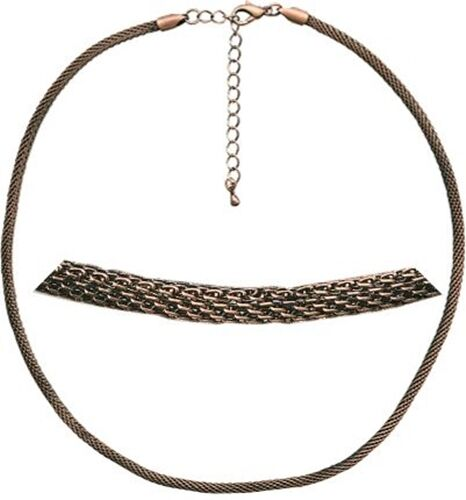 """Round Tubular 16 18"""" Antiqued Copper Plated Mesh 3mm Necklace Chain"""