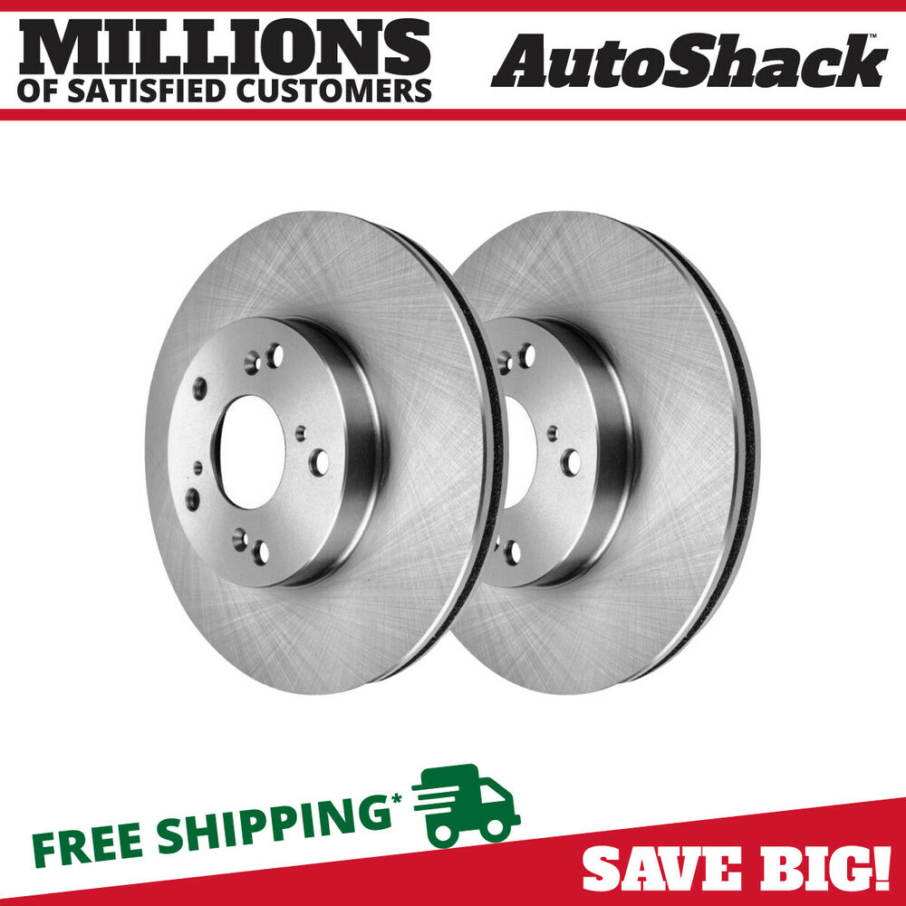 new pair of 2 front disc brake rotors fits acura csx honda accord civic element ebay. Black Bedroom Furniture Sets. Home Design Ideas