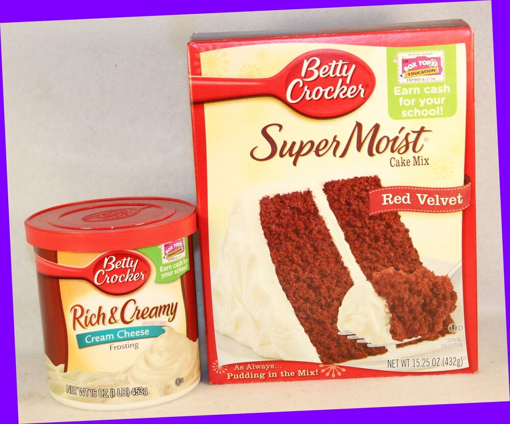 Betty Crocker Super Moist RED VELVET Cake Mix & Rich CREAM ...