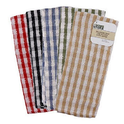 Jumbo Checked Terry Kitchen Towel Dish Towels Terry Cloth