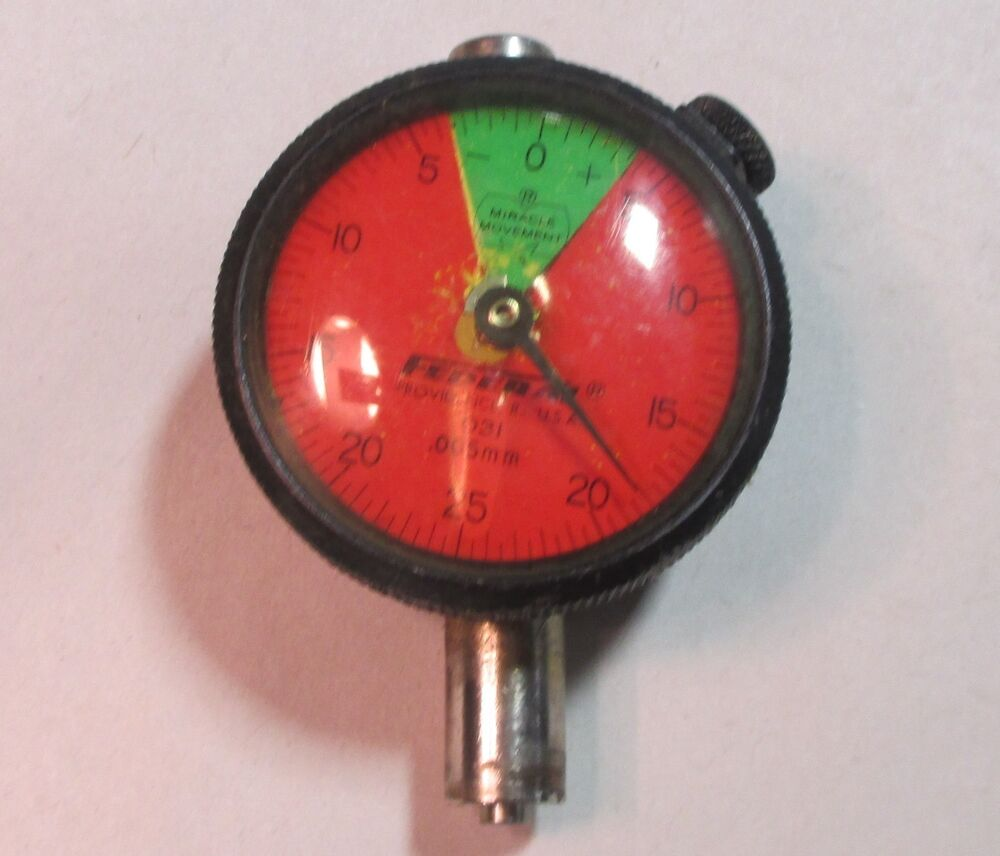 Federal Indicators Gages : Federal o mm dial indicator gauge w red green