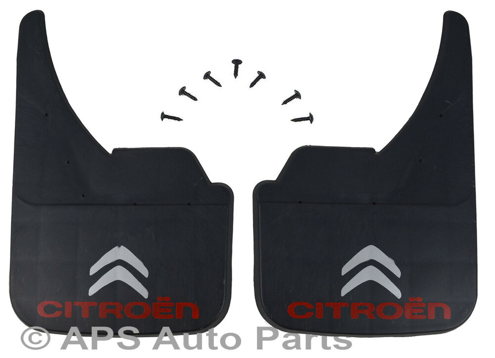universal van mudflaps front rear citroen logo berlingo c2 c15 mud flap guard ebay. Black Bedroom Furniture Sets. Home Design Ideas