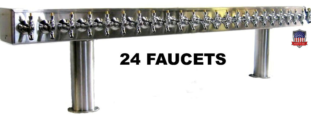 Draft Beer Tower 24 Faucets Glycol Ready Ptb 24ssg Made In The Usa Ebay