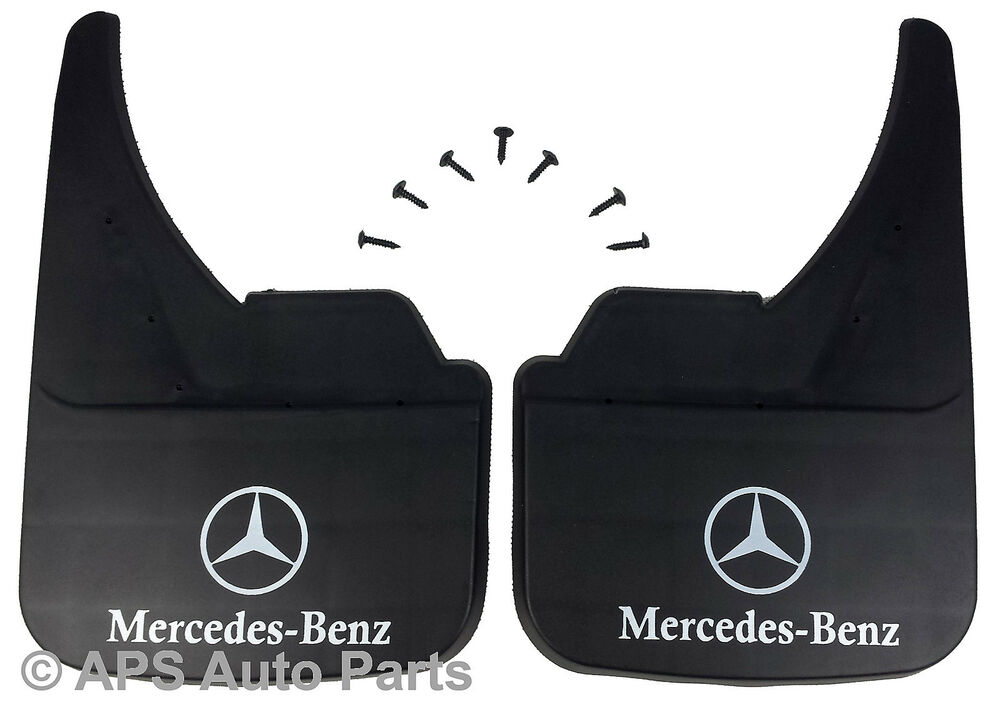 Universal car mudflaps front rear mercedes logo slk class for Mercedes benz ml350 mud flaps