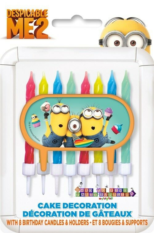 Despicable me 2 cake candle decoration 9pc birthday party supplies