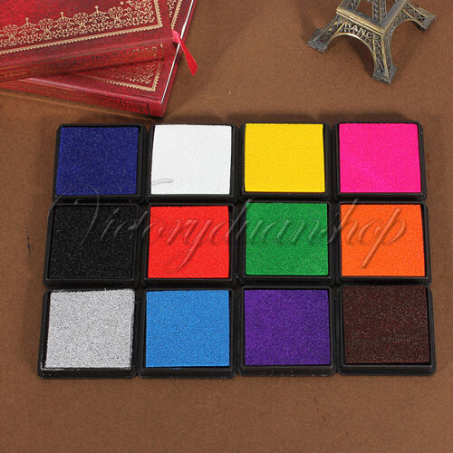 14 colors durable diy craft oil based ink pad print for for Custom craft rubber stamps