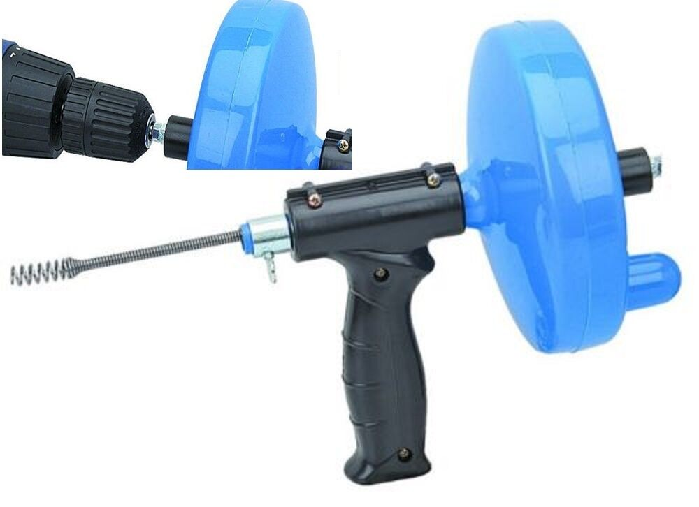 DRILL DRAIN SNAKE CLEANER 25 1 4 Cable Sink Cleaning