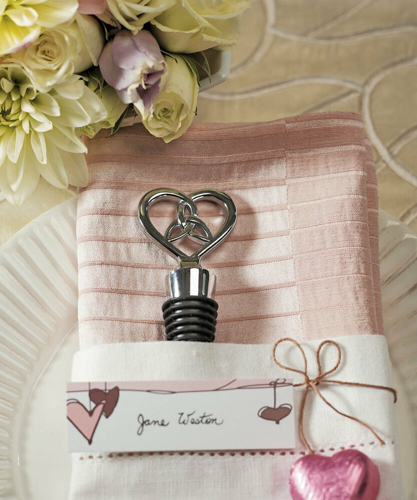 Love Knot Chrome Wine Bottle Stoppers Bridal Shower ...