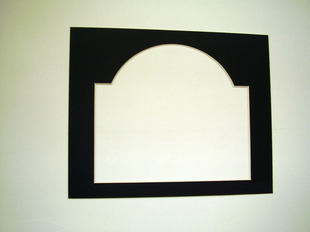 Picture Frame Cathedral Arch Top Black Mat 8x10 Horizotal