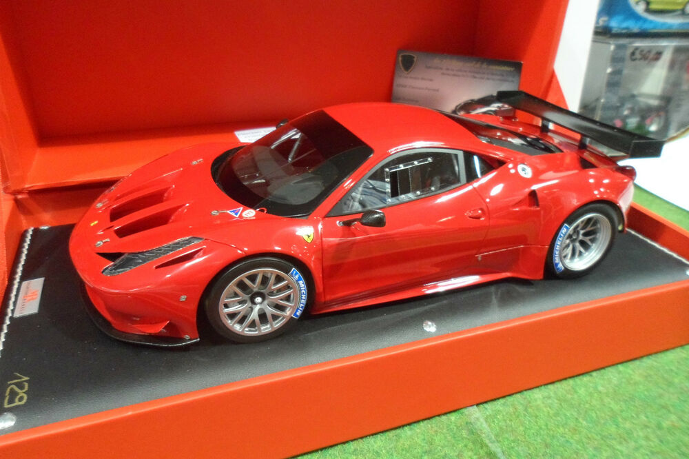 ferrari 458 gt2 rouge 1 18 mr fe05a voiture miniature de collection superbe ebay. Black Bedroom Furniture Sets. Home Design Ideas