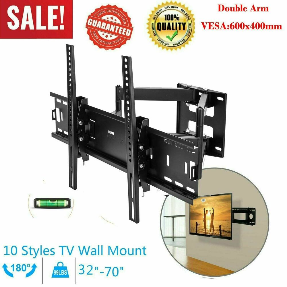 full motion tv wall mount for universal 30 32 39 40 42 46 47 50 51 55 60 led lcd ebay. Black Bedroom Furniture Sets. Home Design Ideas
