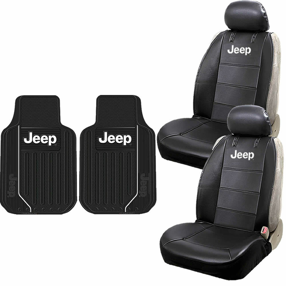 Jeep Mopar Synthetic Leather Seat Covers Front Heavy Duty