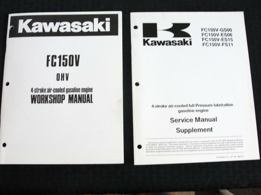 original kawasaki fc150v 4 stroke air cooled gasoline engines service manual ebay Pp- Td40 Honda Pp TD40