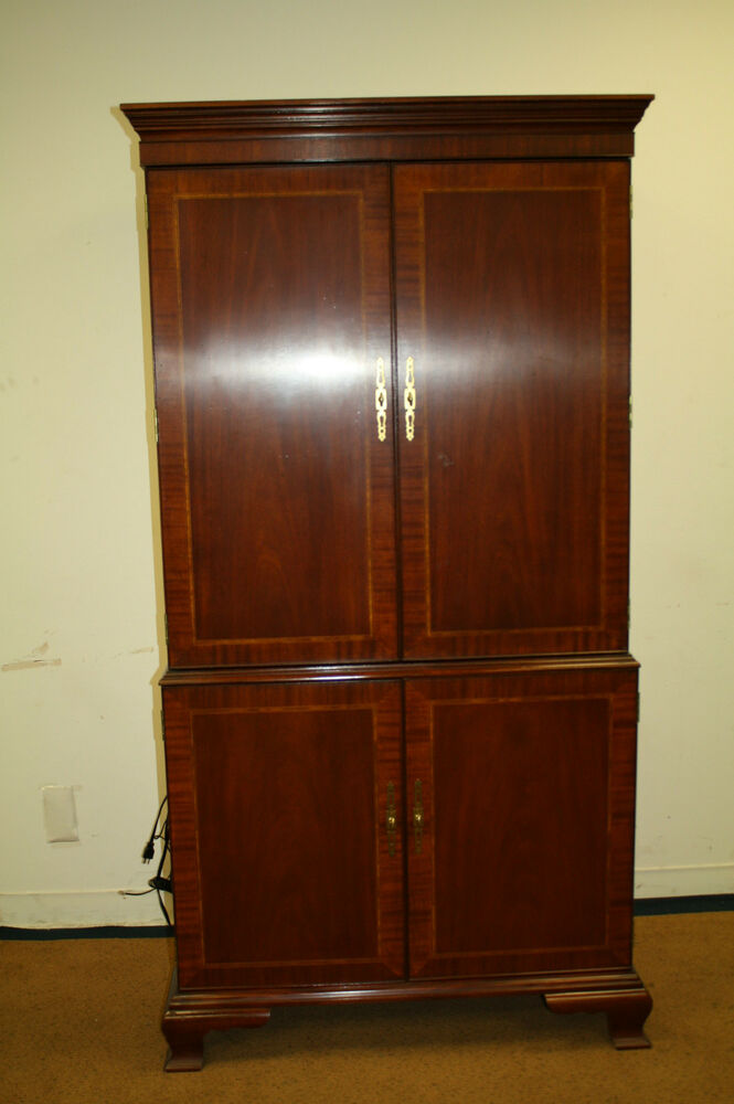 Antique vintage style councill craftsman mahogany armoire for Armoire tv