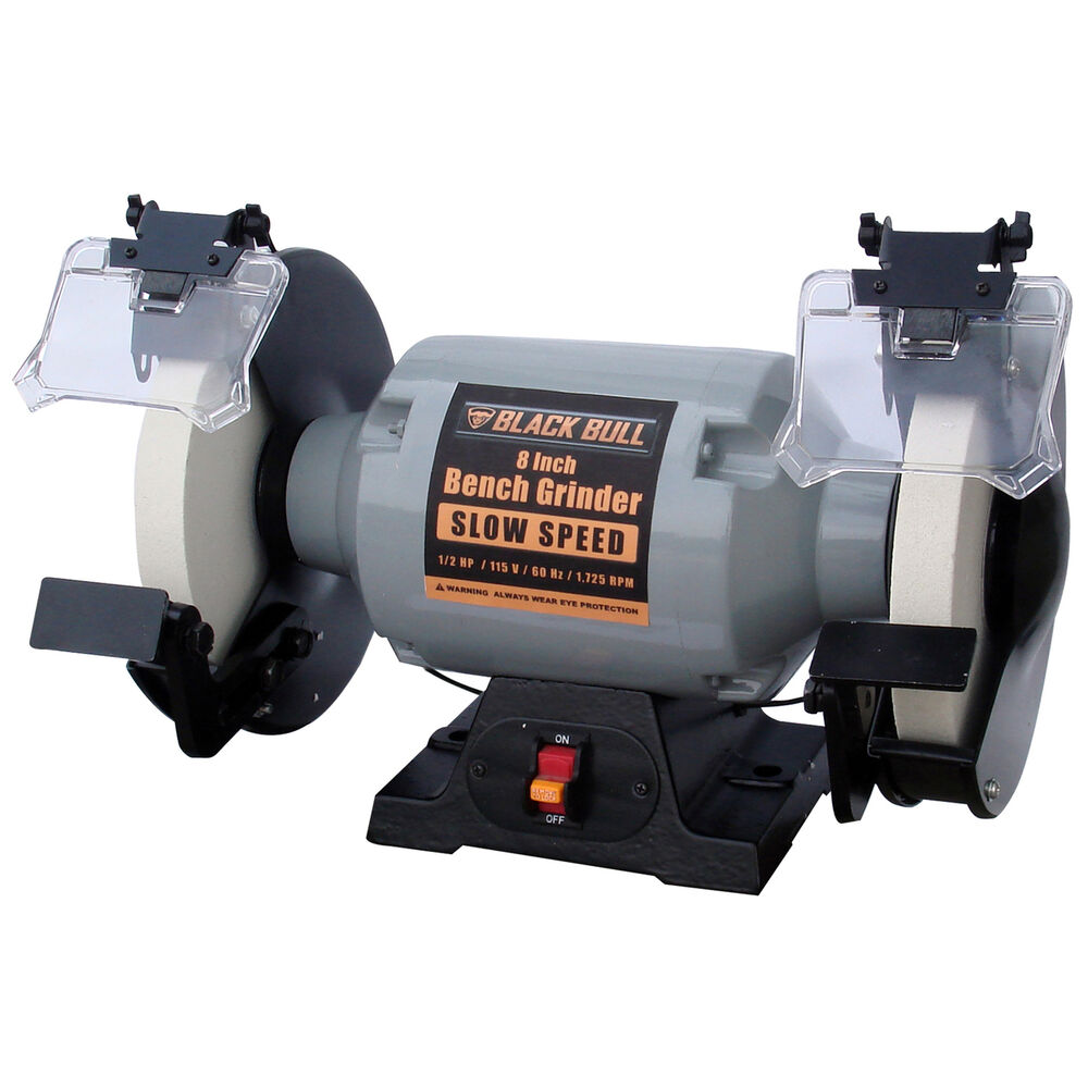 Black Bull Bg8ss 8 Inch Slow Speed Bench Grinder Ebay