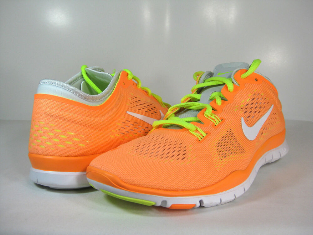 wmns nike free 5 0 tr fit 4 atomic orange white volt grey. Black Bedroom Furniture Sets. Home Design Ideas