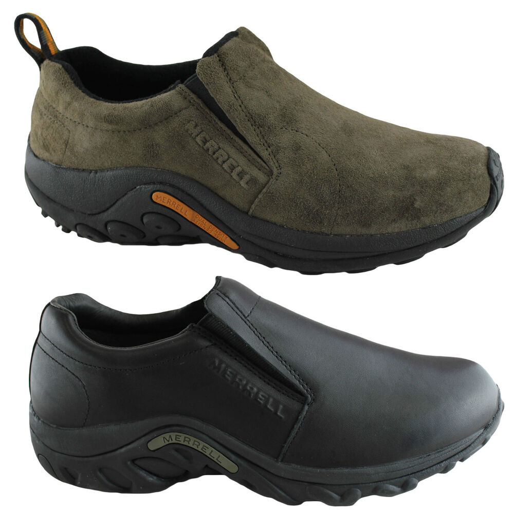 merrell jungle moc mens casual leather slip on comfortable