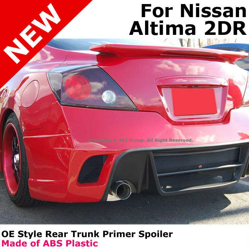 for nissan altima coupe 08 13 abs trunk rear wing spoiler. Black Bedroom Furniture Sets. Home Design Ideas