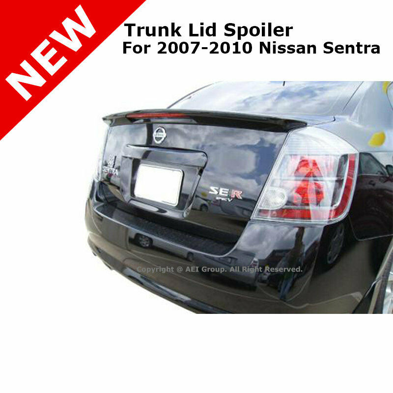 Painted 2004 2008 For Acura Tl Trunk Lip Spoiler Satin: For Nissan Sentra 07-12 ABS 3rd Brake Led Trunk Rear Lip