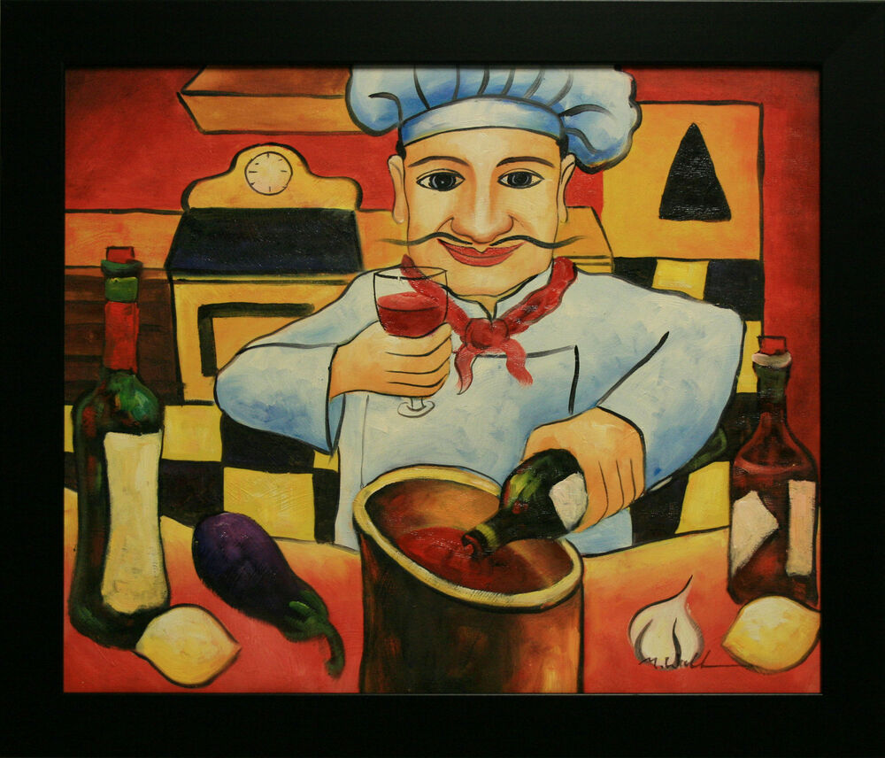 Chef Paintings Kitchen