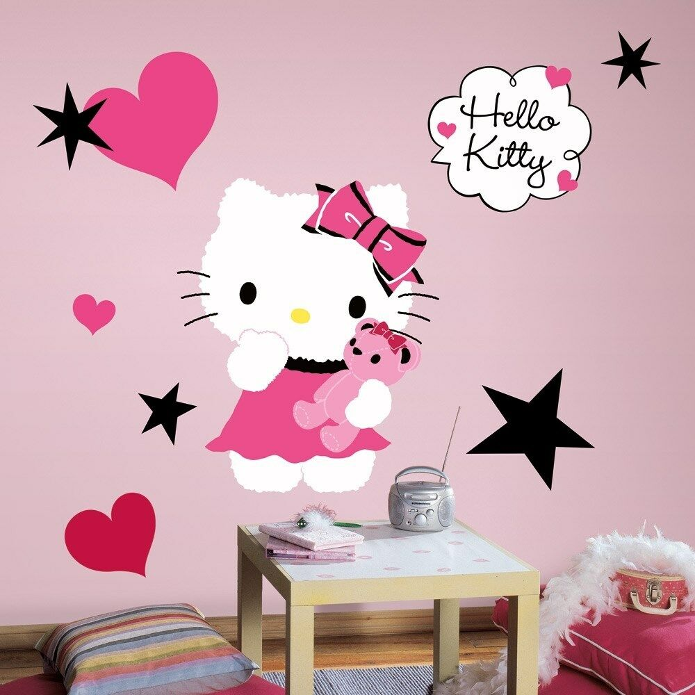 New large hello kitty couture wall decals girls bedroom Wall stickers for bedrooms