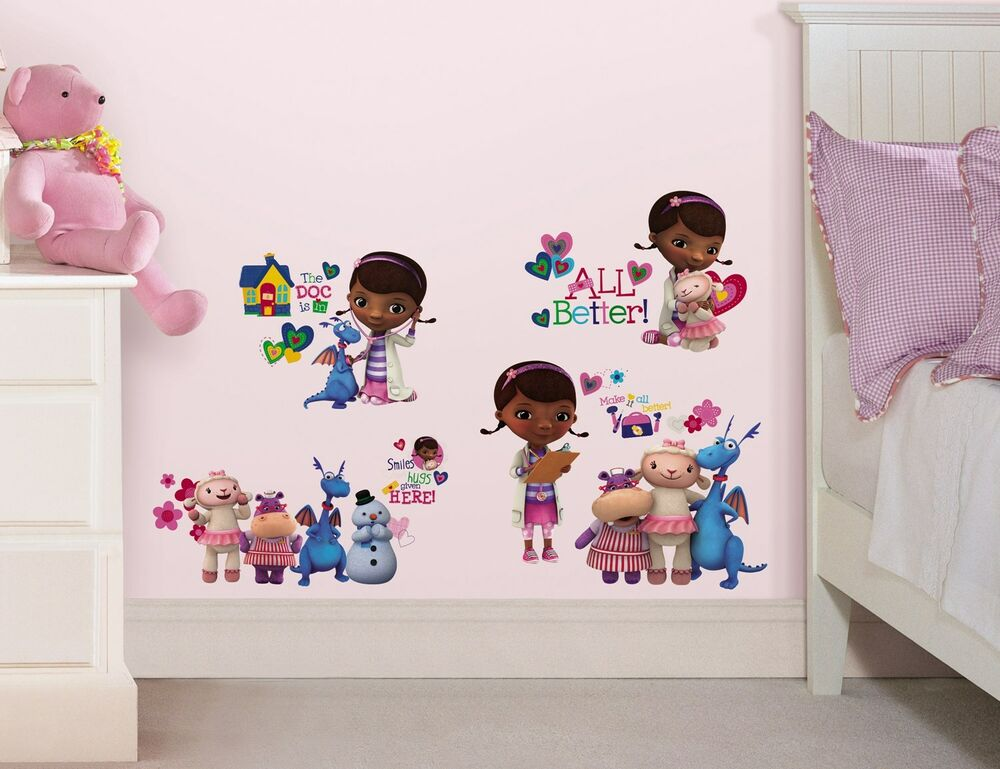 27 new doc mcstuffins wall decals disney bedroom stickers 15191 | s l1000