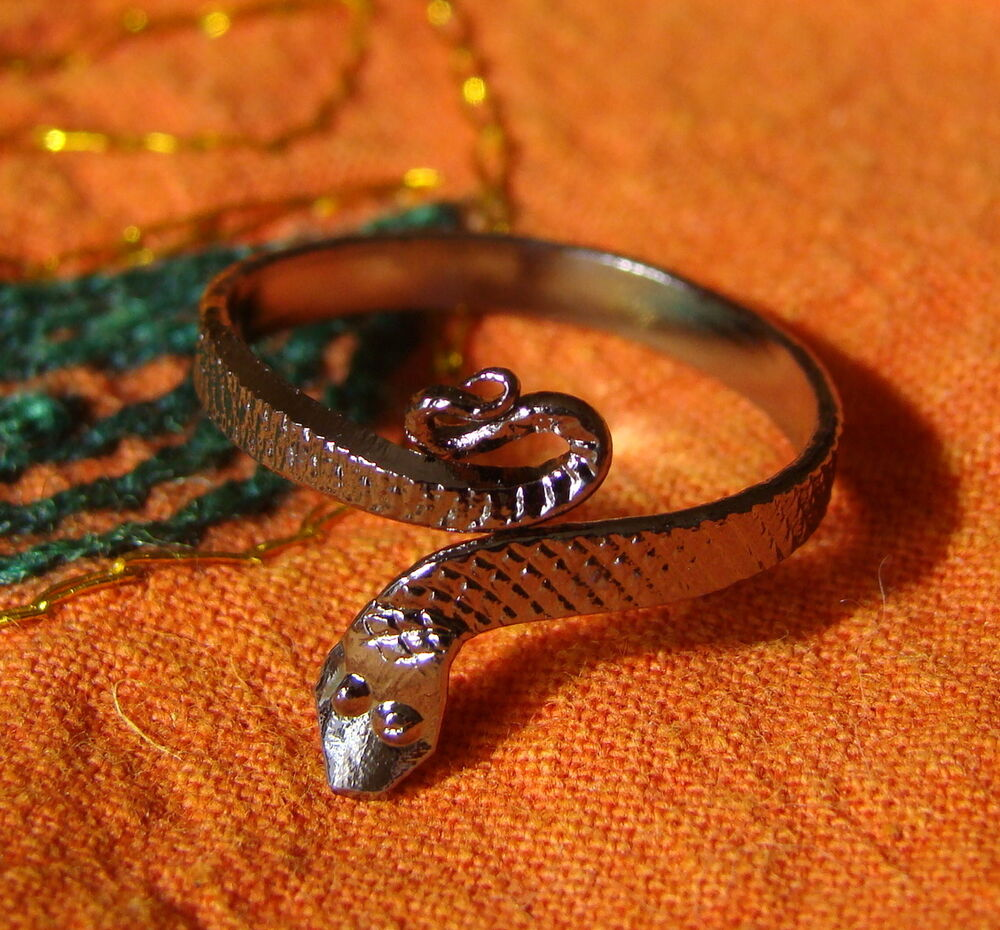 tribal belly silver tone adjustable snake