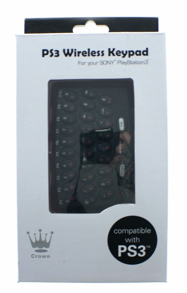 crown drahtlos keypad tastatur f r ps3 controller. Black Bedroom Furniture Sets. Home Design Ideas