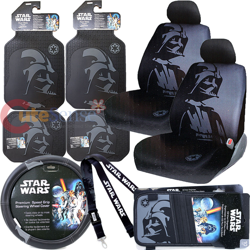 Star Wars Darth Vader Car Seat Covers Set Auto Accessories Complete 11PC